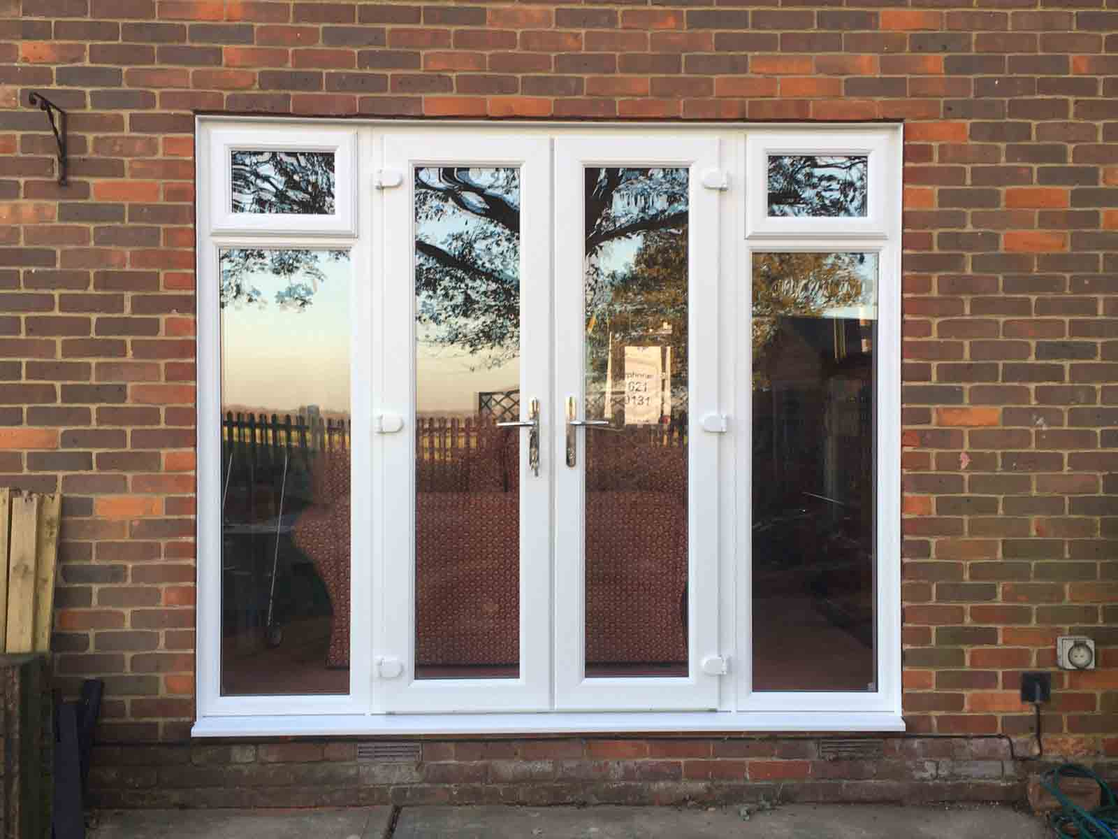 French doors diamond windows for Ideal windows and doors